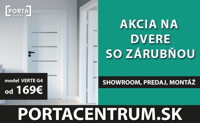 Dvere Porta VERTE G4 akcia August 2020