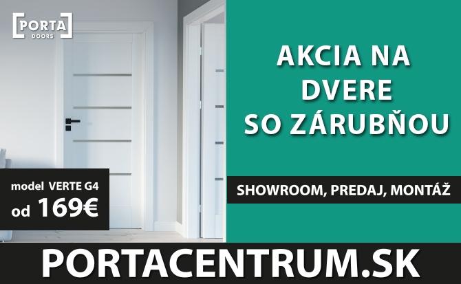 Akcia na August - Dvere so zárubňou PORTA VERTE G4 od 169€